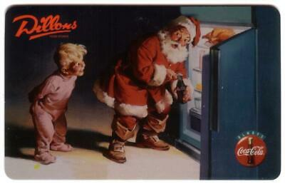10m Dillons: Boy Watching Santa In Refrigerator Getting Coke USED Phone Card