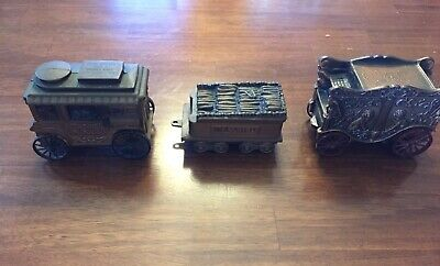Lot Of 3 Vintage Banthrico Metal Car Banks Stanley Coin Bank