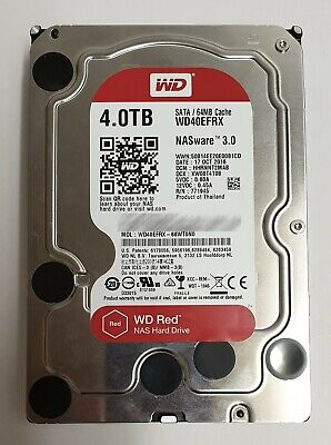 """Western Digital WD Red WD40EFRX 4TB 3.5"""" HDD Hard Disk NASware 3.0 64MB cache"""