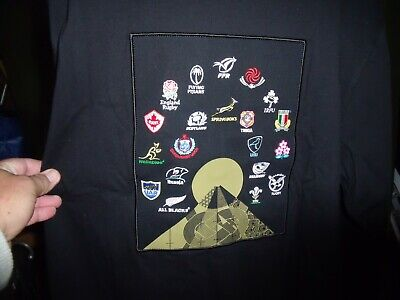 Rugby World Cup Japan 2019 Shirt 20 Nations Black Brand New
