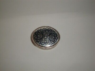 Rare Antique NIELLO SILVER SNUFF/ PILL BOX