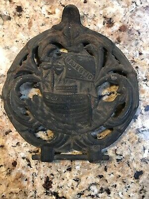 Majestic Wood Cook Stove Antique Cast Iron Part Warming Shelf Ship With Bracket