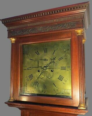 ANTIQUE LONGCASE CLOCK DOUBLE ENDED BRASS SUSPENSION FEATHER SPRING 8 DAY /& 30hr