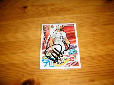 2015 Rugby Attax   #43. Dave Attwood   ( England )     signiert