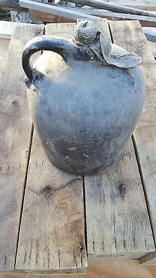 Authentic Antique Early American Stoneware Moonshiner Whiskey Jug Vintage