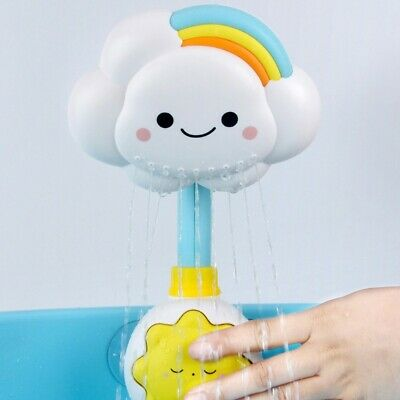 Baby Bath Weather Shower Toy Cloud Spray Tub Faucet Bathroom Learning Toy