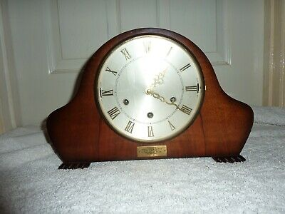 Vintage Smiths Westminster Chime Mantel Clock For Spares Or Repair