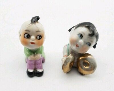 Antique Miniature Chinese / Japanese Pottery Miniature Figurines