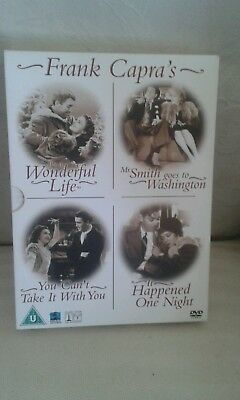 Frank Capra Collection (DVD,4 DISC BOX SET) JAMES STEWART JEAN ARTHUR CLARK GABL