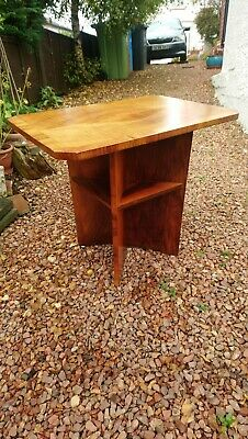 Art Deco Burr Walnut Veneered Occasional Table