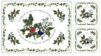 Portmeirion The Holly and The Ivy 6 Placemats & 6 Coasters Unopened Sealed Box