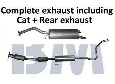 Complete Exhaust System - BM Premium Catalytic Converter + Rear Exhaust Silencer