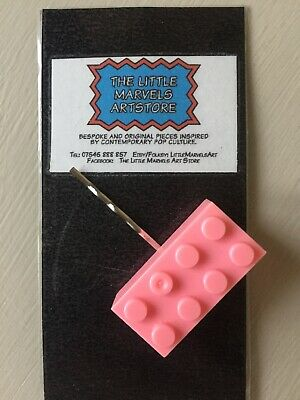 NEW Pink Lego Hair Clip Great Christmas Stocking Filler