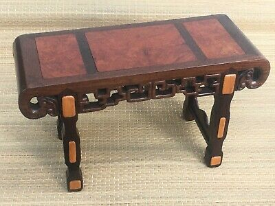 ~~RARE Magnificant !! Miniature Hardwood Asian Traditional Altar Table