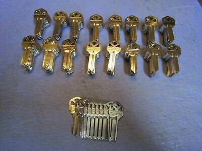 LOT of 170 Hillman Key Blanks, KW1, Nickel Plated Brass # 66. NEW