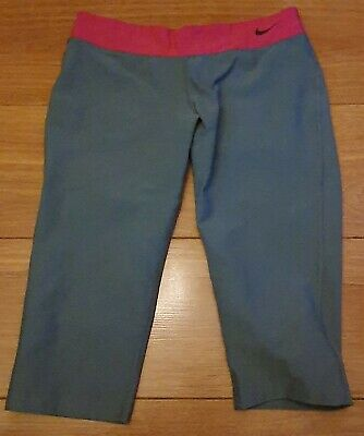 Girls Pink & Grey Nike Leggings Age 10-12 Years Small/Medium