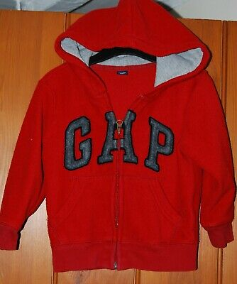GAP, Baby Boy, Girl, Unisex, Red, Warm, Fleece, Hoody, Top, size 4 years