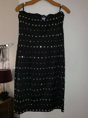 Black Studded Bebe formal dress, Size Large, preowned but mint condition