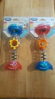 2 × Playgro Baby Toys Whirly Water Wheels Age 6 Months Plus