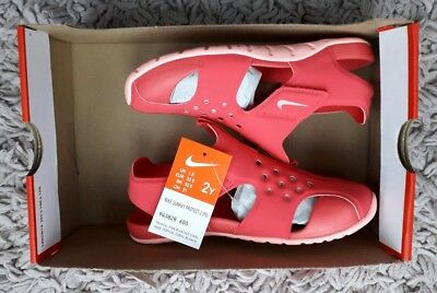 Nike Sunray Protect 2 Swim Sandals Size Uk 1.5 Summer Holiday Beach New Pink