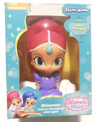 Shimmer and Shine Pink Shimmer Colour Changing Led Night Light
