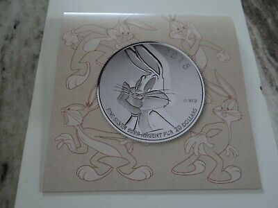 2015 Royal Canadian Mint - $20.00 .999 Pure Silver Coin - Bugs Bunny with COA