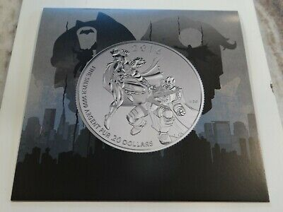 2016 Royal Canadian Mint - $20.00 .999 Pure Silver Coin - Superman vs Batman  DC