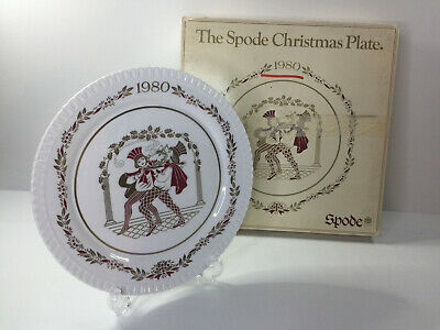 Vintage 1980 The Spode Christmas Display Plate With Original Packaging