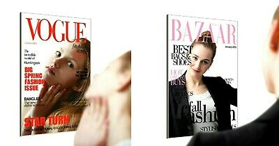 Vogue Bazaar Fashion Magazine Cover Page Mirror Wall Decor Novelty