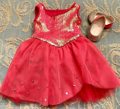 Authentic American Girl Doll Clothes ISABELLE SPARKLE DRESS & Sparkle Shoes