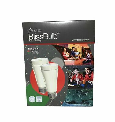 BlissLights BlissBulb Laser Red and Green 2-Pack New