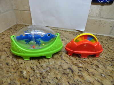 Fisher Price Rainforest Jumperoo Spinning Lizard Rattle & color wheel