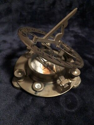 Collectible Brass Sundial/Magnetic Compass
