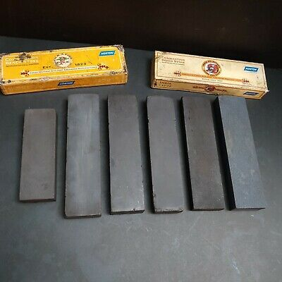 6 Honing Stones Norton Combination Bench Stone Oil Sharpening Machinist Kinfe