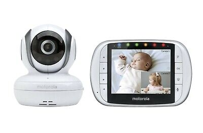 Motorola MBP36S Remote Wireless Video Baby Monitor with 3.5-Inch Color LCD Sc...