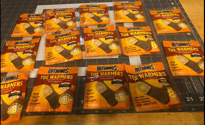 14 Pairs Of Hothands Toe Warmer With Adhesive Up To 8 Hours Of Heat Per Pair!