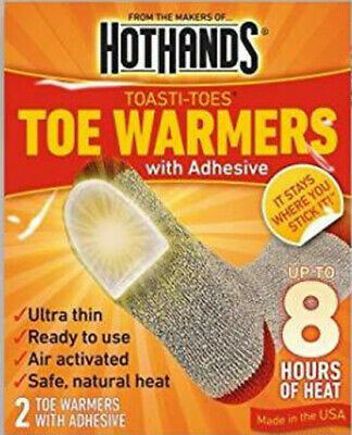 40 Pairs (80 Individual) Hothands Toe Warmers With Adhesive