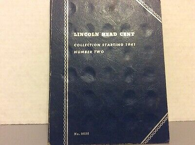 Whitman Lincoln Head Cent Collection Starting 1941 - Album Number Two
