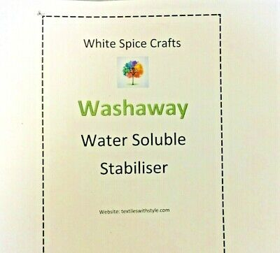 "Wash Away Opaque Soluble, Fabric like, Stabiliser 20"" wide washaway"