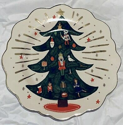 Rifle Paper Co x Anthropologie Nutcracker Christmas Tree Dessert Plate, SOLD OUT