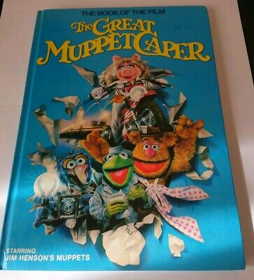 VINTAGE 1981 THE GREAT MUPPET CAPER MOVIE BOOK Jim Henson MUPPETS  Hardcover