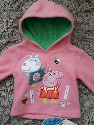 Mothercare Baby Girls Peppa Pig Quality Hoodie Hooded Top Age 3/6 Months Pink