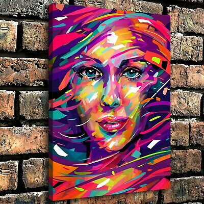 "12""x16"" Abstract Drawing Head HD Canvas prints Home Decor room Wall art Picture"