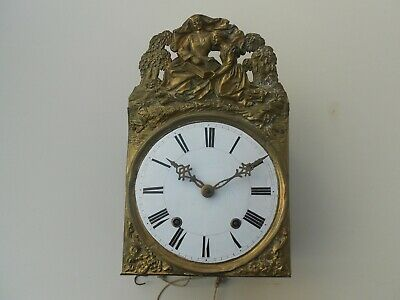 ANTIQUE FRENCH MORBIER COMTOISE MOVEMENT CLOCK 19th.
