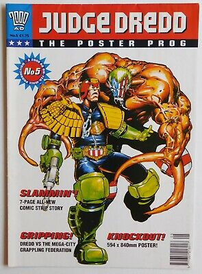 JUDGE DREDD : POSTER PROG #5 1994 (2000 AD Comic)