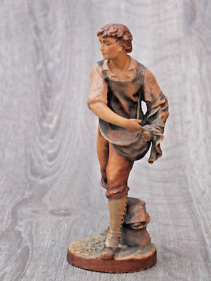 Vintage Figure Boy Sowing Seed - Beautiful Modelling - Believe to be by Anri
