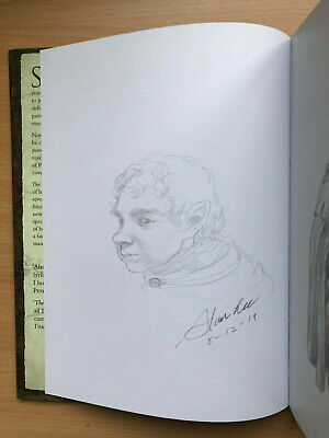 Alan Lee SIGNED DATED LARGE SKETCH The Hobbit Sketchbook LOTR UK 1/1 HB
