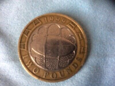 1999 Rugby World Cup. 2 Pound Coin