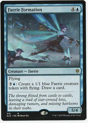 Magic The Gathering Throne Of Eldraine Rare Card #316 Faerie Formation
