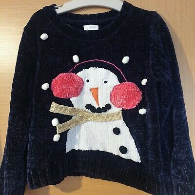 Next Girls Christmas Snowman Jumper Age 5/6 Years